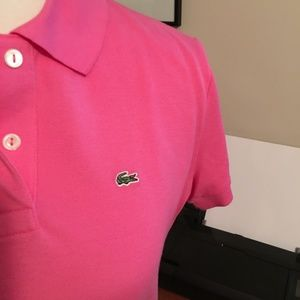 Lacoste Tops - Lacoste Devanlay Polo Shirt in Pink
